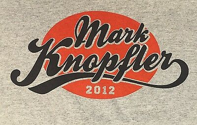 Mark Knopfler Tshirt 2012 Tour Gray Talking Heads Men's