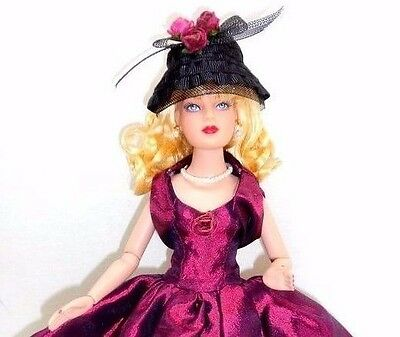 """Wine and Roses Tiny Kitty Tonner BW 10"""" Doll Blonde Basic Necessities Stand Box"""