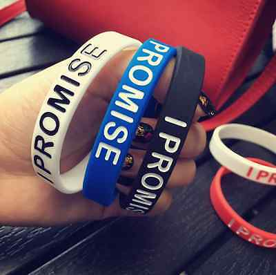 I PROMISE Silicone Wristbands Wrist Bands Solid Rubber Bracelet