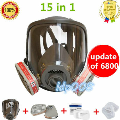 Suit Dust Gas Masks Full Facepiece same as 3M 6800 Spray Protective Cartridge