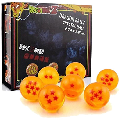 JP Anime Dragon Ball DragonBall Z Stars Crystal Diameter Ball Set 7pcs 4.2cm