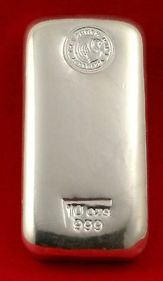 10oz 999 Australia The Perth Mint Pty Ltd Silver Bullion Bar