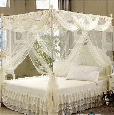 Princess 4 Poster Bedding Canopy Mosquito Netting Or Frame (Post)