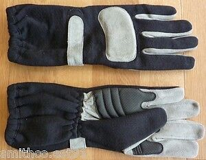 Adult NOMEX Fireproof Racing GLOVES - Black/Grey Junior & Adult Autograss