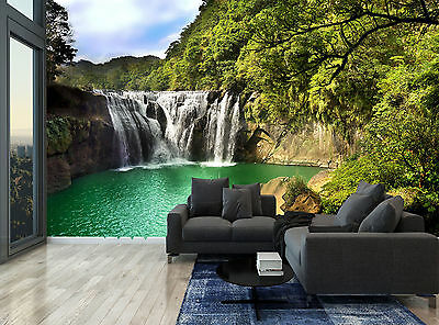 Waterfall Trees Nature Water Plants Wall Mural Photo Wallpaper GIANT WALL DECOR