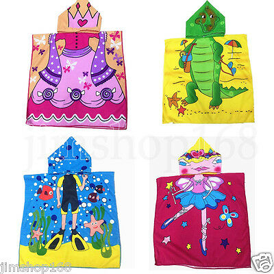 Hooded Towel for Kids Toddlers Bath Wrap Beach Poncho with Hood Robe Baby Child