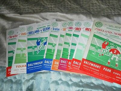 REPUBLIC OF IRELAND INTERNATIONAL HOME PROGRAMMES FROM THE 1950s