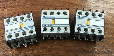 ***LOT OF 3*** Telemecanique LA1 DN22 Auxiliary Contact Block LA1DN22 DN22