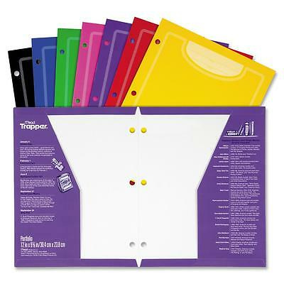 Mead Trapper Keeper Two-Pocket Paper Folder 8 1/2 x 11 Assorted Colors 33100