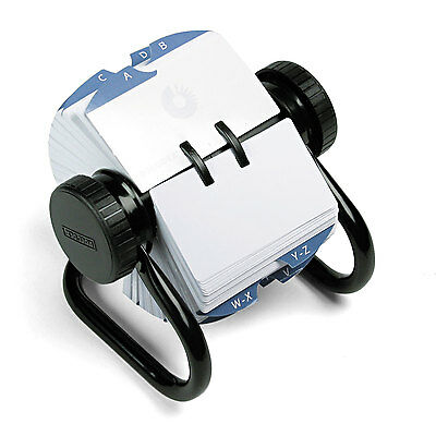 Rolodex Open Rotary Card File Holds 500 2-1/4 x 4 Cards Black 66704