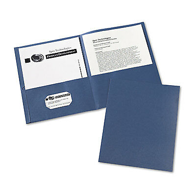 Avery Two-Pocket Folder 40-Sheet Capacity Dark Blue 25/Box 47985