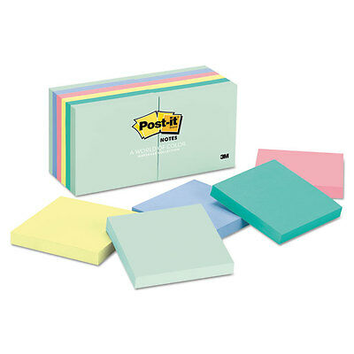 Post-it Notes Original Pads in Marseille Colors 3 x 3 100-Sheet 12/Pack 654AST