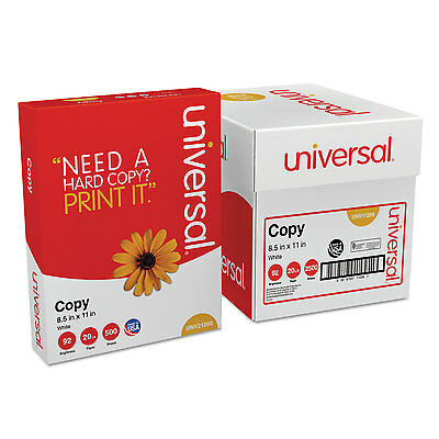 UNIVERSAL Copy Paper Convenience Carton 92 Brightness 20lb 8-1/2 x 11 White 2500
