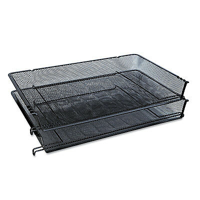 Universal One Mesh Stackable Side Load Tray Legal Black 20012