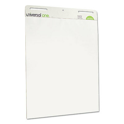 Universal One Self-Stick Easel Pads Unruled 25 x 30 White 2 30-Sheet Pads/Carton