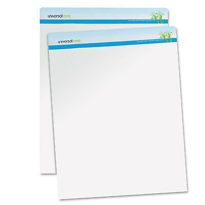 UNIVERSAL Sugarcane Based Easel Pads Unruled 27 x 34 White 50 Sheets 2 Pads/Pack