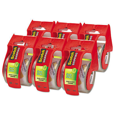 """Scotch Sure Start Packaging Tape 1.88"""" x 800"""" 1 1/2"""" Core Clear 6/Pack 1456"""