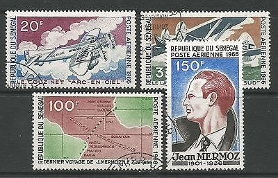 SENEGAL. 1966. 30th Anniv of Mermoz Disappearance Set. SG: 339/42. FU - CTO.