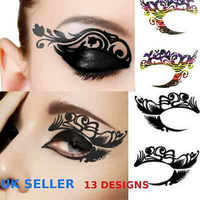 Temporary Face Tattoo Lace Eye Tattoo Black Lace Tattoo Eye Rock Sticker Tattoo