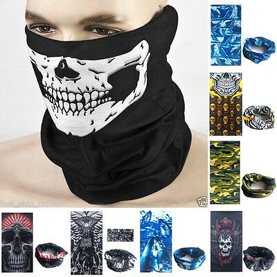 Multi-Function Tube Scarf Headband Face Mask Warmer Bandana Headwear Beanie New