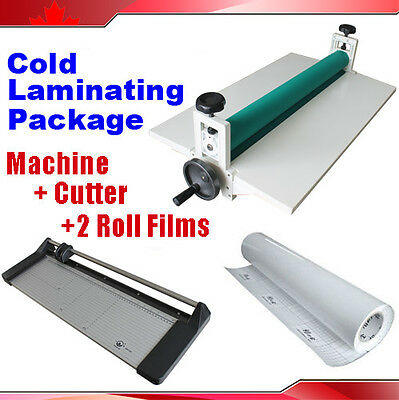 "25"" Cold Laminator +24"" Rotary Paper Cutter Trimmer +Roll Laminating Film"