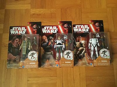 Star Wars The Force Awakens Figures set(Captain Rex, Finn(FN-2187),Unkar Plutt)