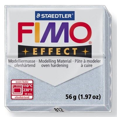 Staedtler Fimo Effect Glitter Silver (812) Polymer Modelling Clay Oven Bake 56g