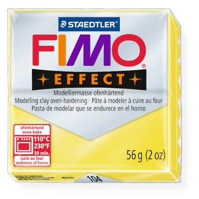 Staedtler Fimo Effect Transparent Yellow (104) Modelling Clay Oven Bake 56g