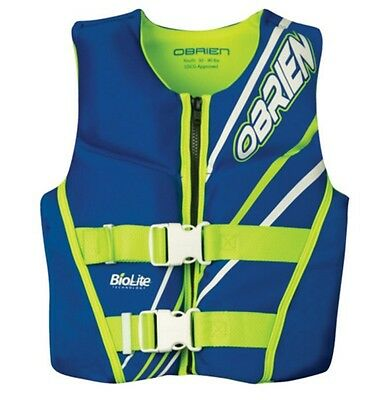2016 O'Brien Youth Neo Watersports Buoyancy Vest, Youth, Blue Green. 61577