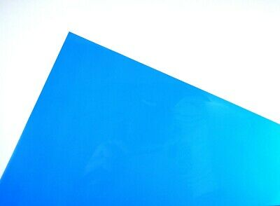 Blue A4 Acetate Sheets Transparent Clear OHP Craft Plastic Film (5 Sheets)