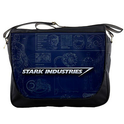 Stark Industries, Tony Stark Corporation Nylon Messenger Sling Notebook Bag