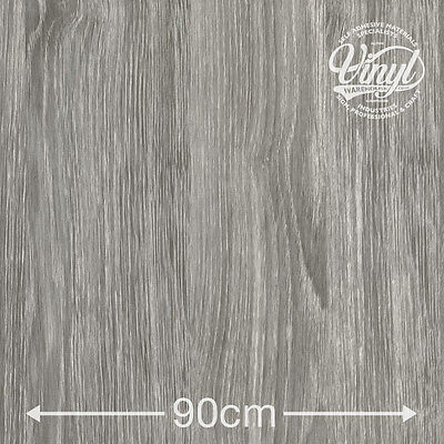 90cm Sheffield Grey Oak Sticky Vinyl Fablon (200-5582) from 1 to 15 metres