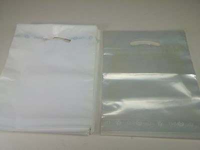 "Lot of 43 White and 8 Clear Oxo Bio Biodegradable Plastic Bags 9"" x 11.5"" Sack"