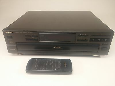 Vintage 1993 Technics Compact Disc Changer 5 Disc CD Player SL-PD847 w/ Remote