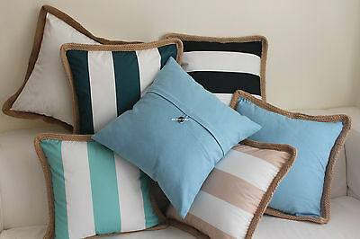 Outdoor Multicolored Home Decor Linen Cotton CUSHION COVER Throw PILLOW CASE 18""