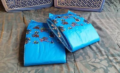 2 Diapers - DC Idyl - Medium/Large - all blue theme! plastic-backed adult baby