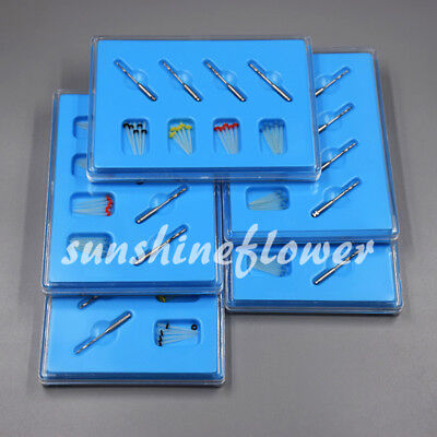 5 Boxes Dental Fiber Post Resin High-intensity Straight Thread Glass + 20 Drills