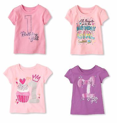 NEW NWT Girls 1st First Birthday Shirt 9-12 12-18 18-24 Months Cupcakes