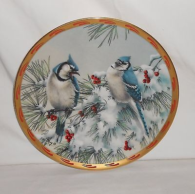 "1993 Limited Edition Lenox Nature's Collage Plate Collection ""Winter Song"""