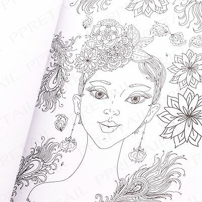 COLOUR YOURSELF CALM Enchanted Fairies Adult Colouring Book Peaceful Relaxing