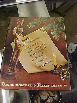 vintage catalog abercrombie and fitch christmas 1974 free shipping
