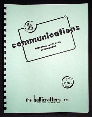 Hallicrafters SX-71 SX-71U Operating and Servicing Manual