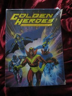 GOLDEN HEROES BOXED SET. Games Workshop Roleplaying Game RPG Rare. 1984
