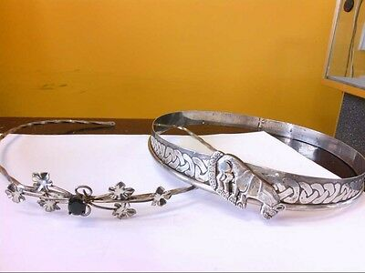 INTERESTING Sterling Silver His/Hers Circlet/Tiara Set. HEAVY!! BUY NOW!!