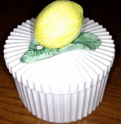 Fitz and Floyd trinket box with lemon