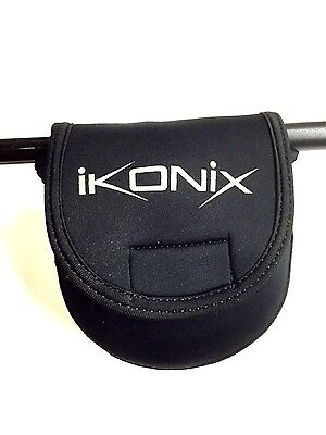 Ikonix Neoprene Fly fishing Reel Case On or off Rod Fits Fly + Centrepin Reels