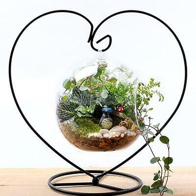 Iron Hanging Plant Flower Pot Stand Holder Landscaping Garden Decor