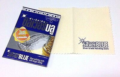 2 Pcs Polishing Cloth Cleaners Jewelry Gold Sterling Silver Platinum Brass