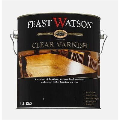 Feast&watson 4 Litre Gloss Proof Timber Clear Varnish