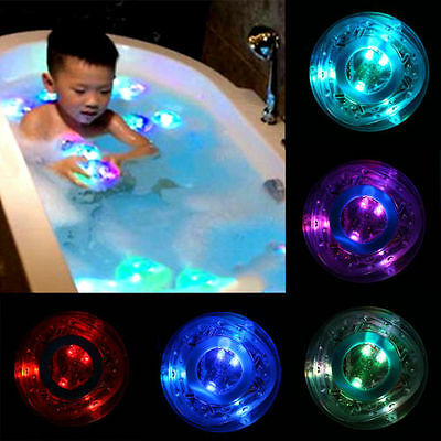 Bathroom LED Flash Light Toy Kid Color Changing Waterproof In Tub Bath Time Fun